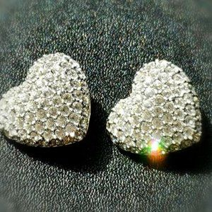 NWOT Swarovski Heart Clip-on clip earrings
